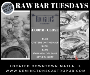 Read more about the article Raw Bar Tuesdays at Remingtons!